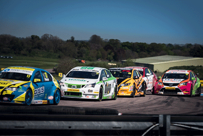 Image of BTCC cars racing