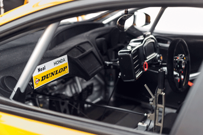 Image of interior of BTCC car