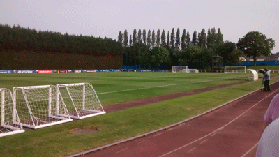 Image of football training field