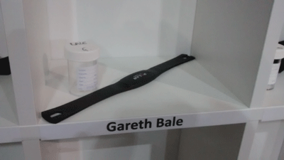 Image of a traacker belonging to Gareth Bale