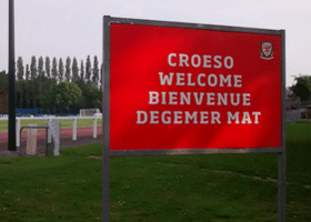 Image of a Welsh team sign