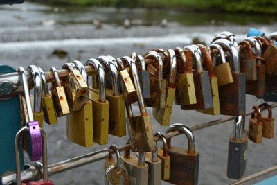 Image of padlocks in the peak district