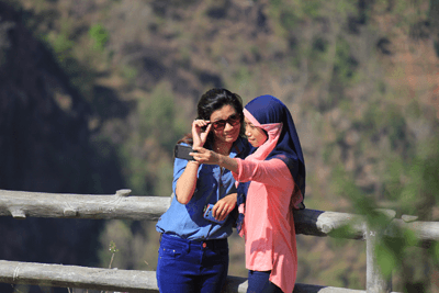 Image of a two girls taking a selfie