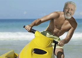Image of Doctor Moore-Money on a jetski