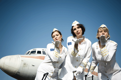 Image of retro stewardesses