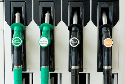 Image of petrol pumps