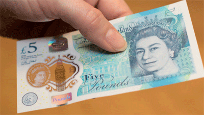 Image of a new fiver