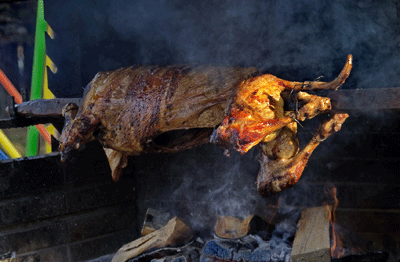 Image of a roast suckling pig