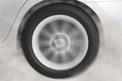 Image of a wheel spinning