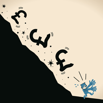 Image of tumbling pounds cartoon