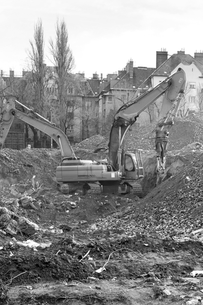 Image of houses being demolished