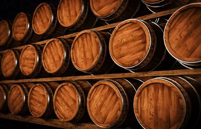 Image of whisky barrels