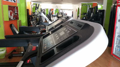 Image of a treadmill at the gym