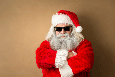 Image of santa looking cool