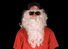 Image of a santa wearing sunglasses