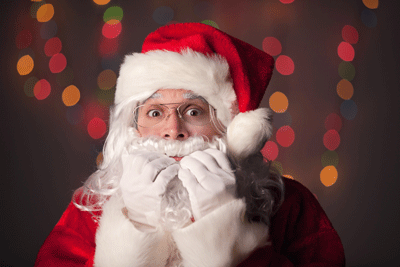 Image of santa looking nervous