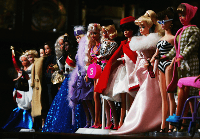 Image of Barbie dolls