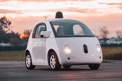 Image of Google self-driving car