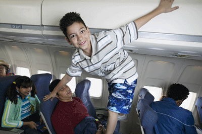Image of annoying child on a flight
