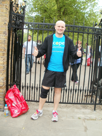 Image of the author having completed a half marathon