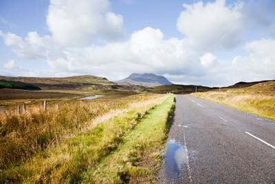 Image of road in Scottish highlands