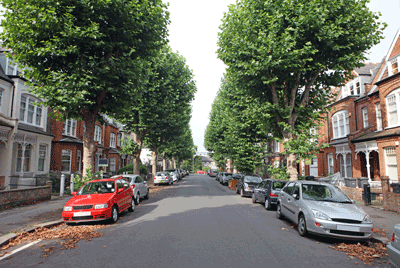Image of a residential street in the uk