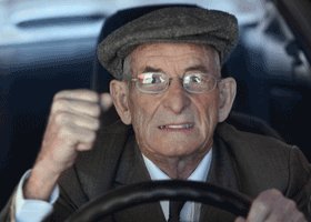 Image of irate driver
