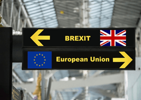Image of Brexit and EU signpost