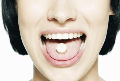Image of woman enjoying a drug