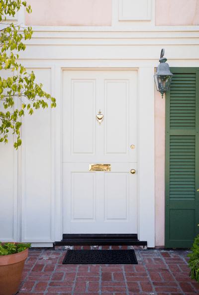Image of white front door