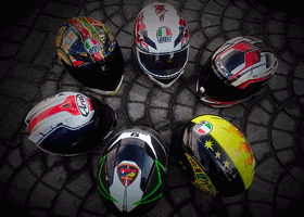 Image of colourful helmets