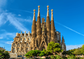 This is a photo of the Sagrada Familia in Barcelona