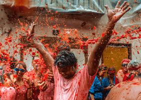 Tomato-throwing festival in Valencia