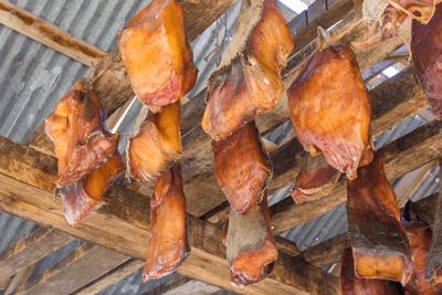 Rotten shark meat