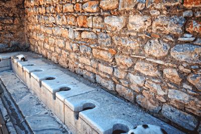 Image of roman toilets