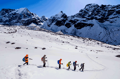 Image of Everest adventurers