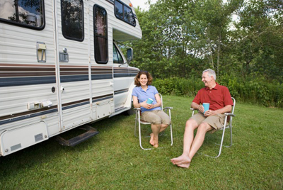 Image of couple enjoying a campsite