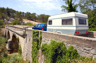Image of a European caravan holiday
