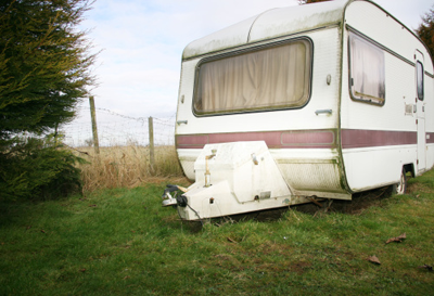 Image of grotty looking caravan