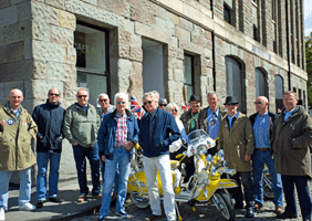 Group shot of Bristol Mod Scooter Club members