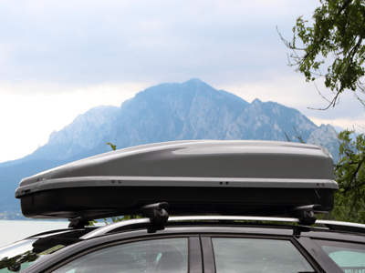 Image of roof rack on car