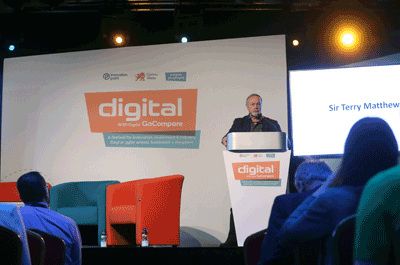 Image of Terry Matthews at Digital in Cardiff 2017