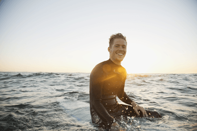 Image of male surfer
