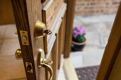 An image of a door lock