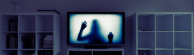 Image of ghost in TV