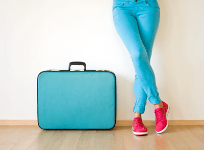 An image of a blue suitcase