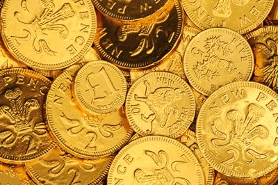Image of chocolate money