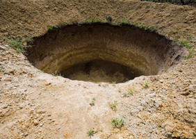 Image of a hole