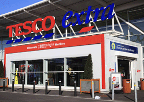 Image of Tesco signage