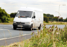 Image of a van travelling